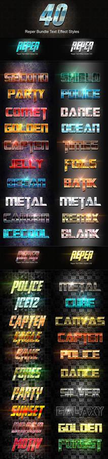 40 Reper Bundle Text Effect Styles