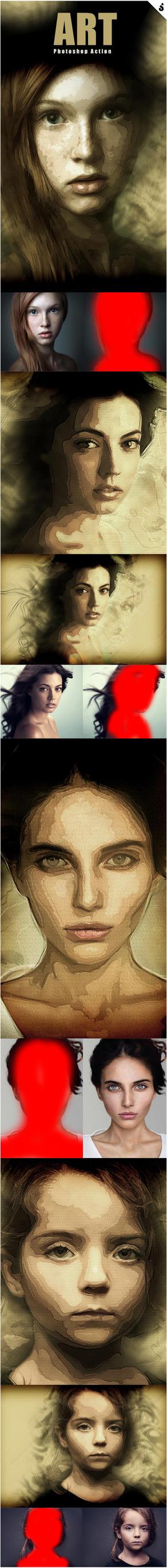 Art Photoshop Action by Kluzya