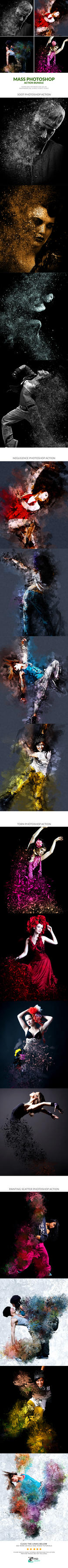 Mass Photoshop Action Bundle by Kluzya