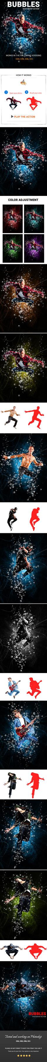 Bubbles Photoshop Action by Kluzya