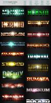 50 3D Text Effects - Bundle Vol. 01