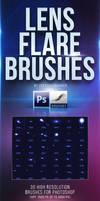 30 Lens Flare Brushes for Photoshop