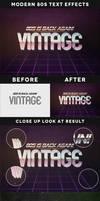 Modern 80s Text Effects