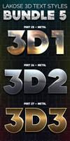 Lakose 3D Text Styles Bundle 5