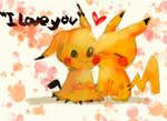 Mimikyu x Pikachu by Surprise0v0