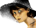 Girl in Sunhat (Colored)