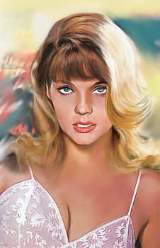 70s Poster Art Style Pinup