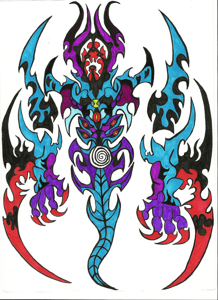 Shadow khan by primal lord on deviantart for Jackie chan adventures jade tattoo