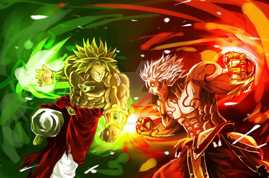 Super Saiyan Goku Vs Broly