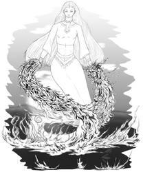 Commission: White Jinn