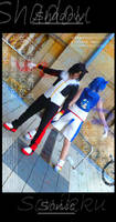 Sonic and Shadow - Cosplay by MiraiSora