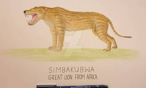 Simbakubwa - The great lion from Africa.