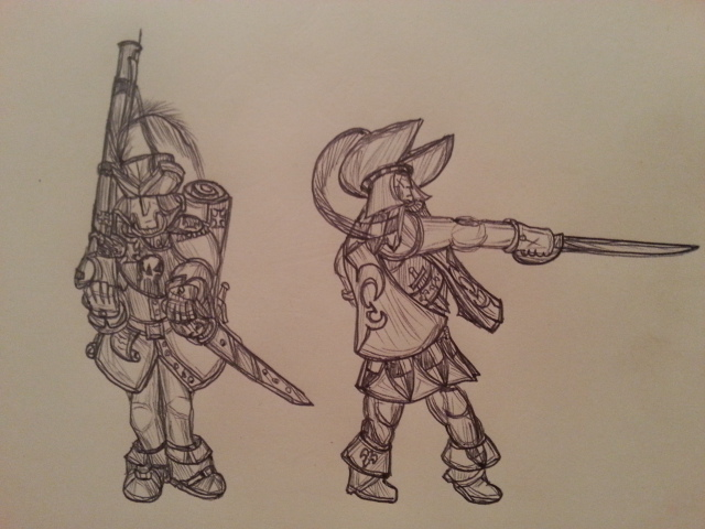 Warhammer musketeers. by Baron-Klatz
