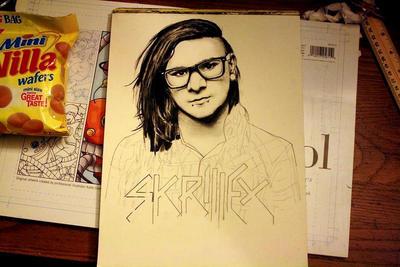 Skrillex WIP 3 by artbyjoewinkler