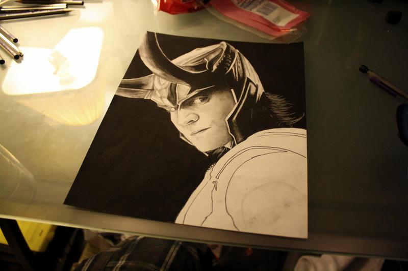 Avengers: Loki WIP by artbyjoewinkler