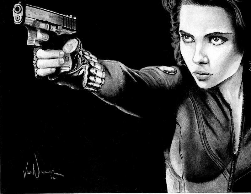 Avengers: Agent Natasha Romanoff aka Black Widow by artbyjoewinkler
