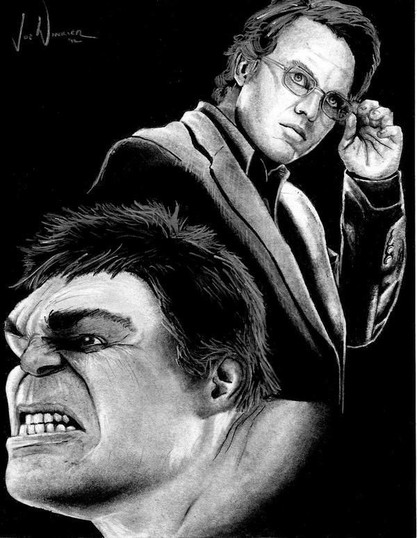 Avengers: Dr. Bruce Banner aka The Incredible Hulk by artbyjoewinkler