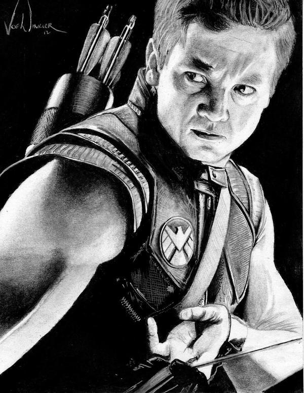 Avengers: Agent Clint Barton aka Hawkeye by artbyjoewinkler