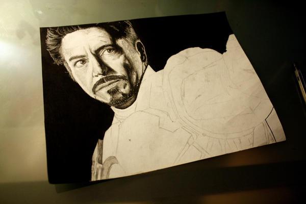Avengers: Iron Man WIP 2 by artbyjoewinkler