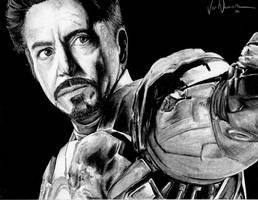Avengers: Tony Stark aka Iron Man by artbyjoewinkler