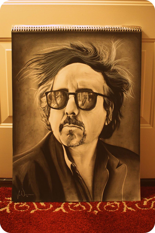 Tim Burton Portrait by artbyjoewinkler