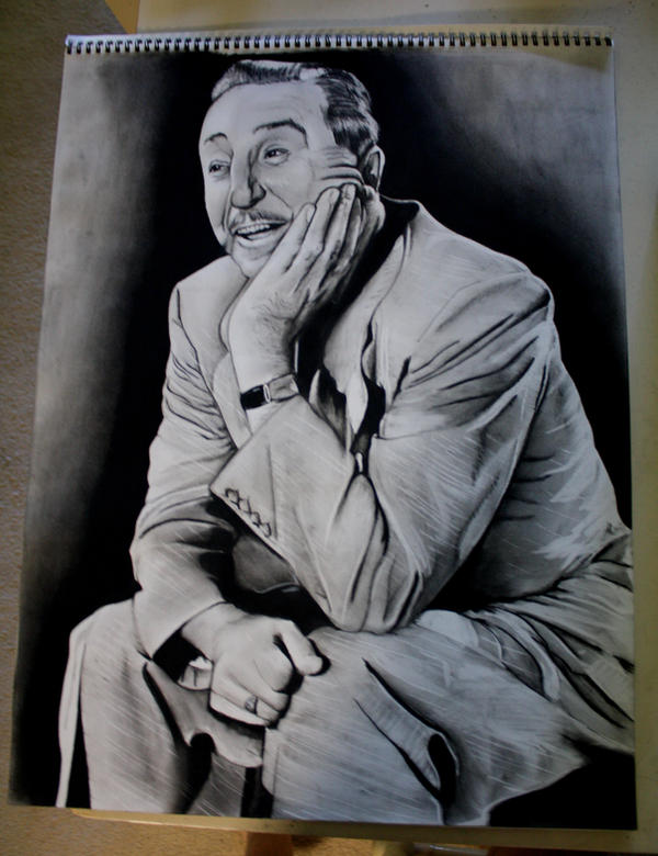 Walt Disney Portrait by artbyjoewinkler