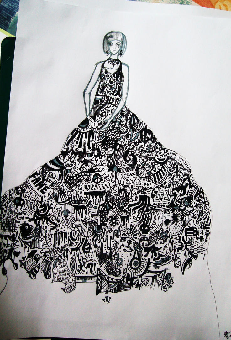 incomplete doodle dress by superfluous-x on DeviantArt