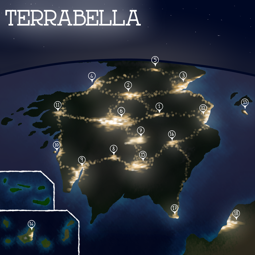 TERRABELLA AT NIGHT by Viyusgi