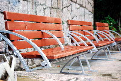 Empty Benches by Lu-Xin