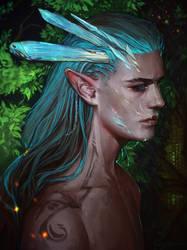 Crystall elf by LoranDeSore