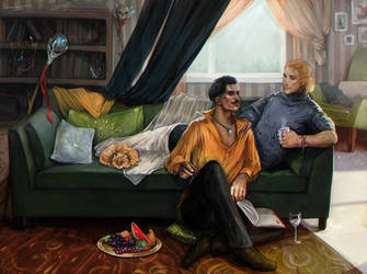 Dorian and Anders by LoranDeSore