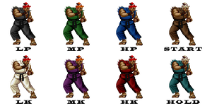Ryu VS Ken by Street-Spriter on DeviantArt