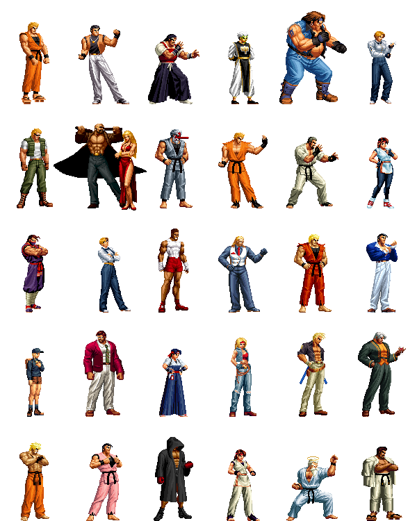 Art Of Fighting Collection By Street Spriter On Deviantart