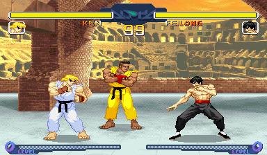 Ken VS Fei Long by Street-Spriter