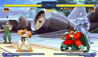 Ryu VS Vega by Street-Spriter