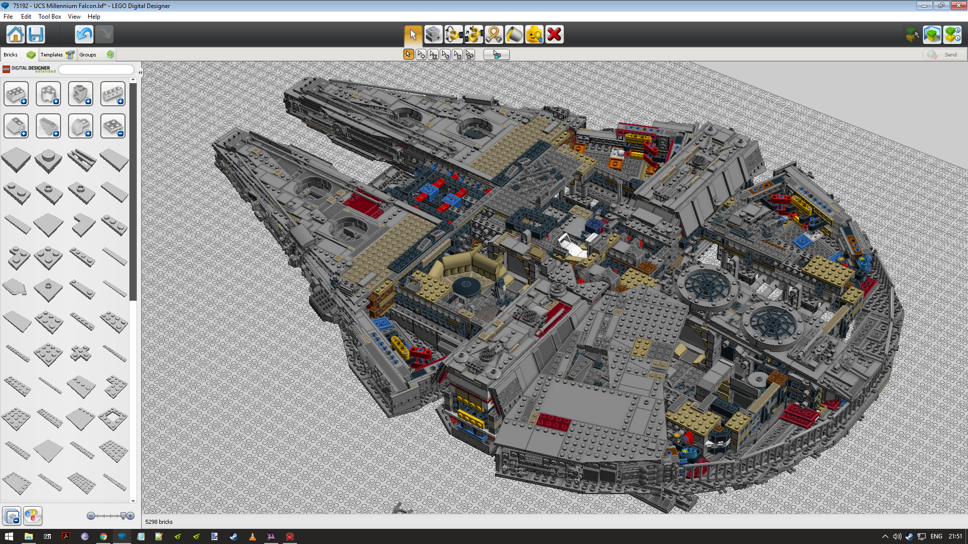 UCS Millennium Falcon Stage 954 by kevinflemming1982 on