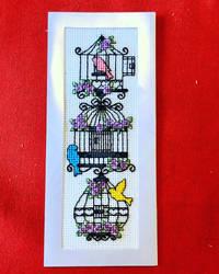 Birdcage Bookmark - Cross Stitch