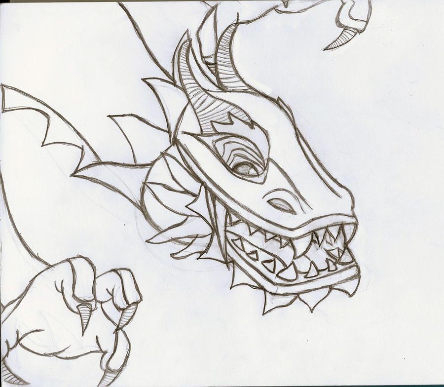 Chinese Dragon Pencil Drawing by ThatPolarisStar on DeviantArt