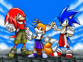 Knuckles, Tails N' Sonic... by thefjk