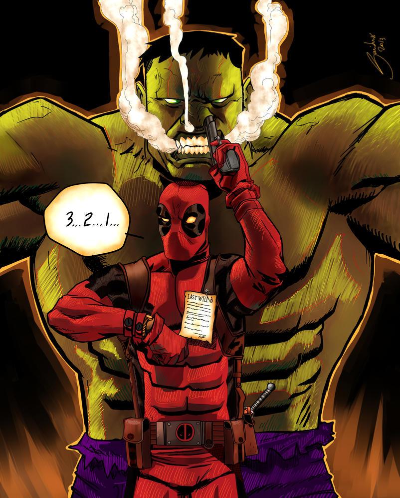 Deadpool + Hulk by Guidux92