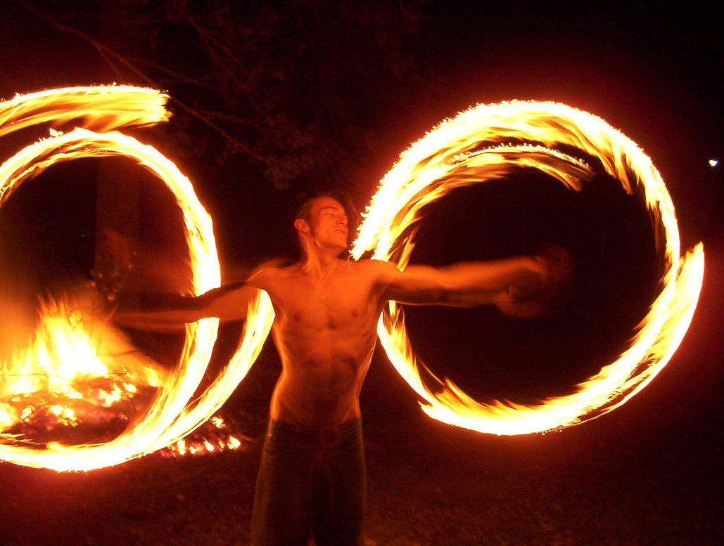 My Mate fire twirling. by droy333