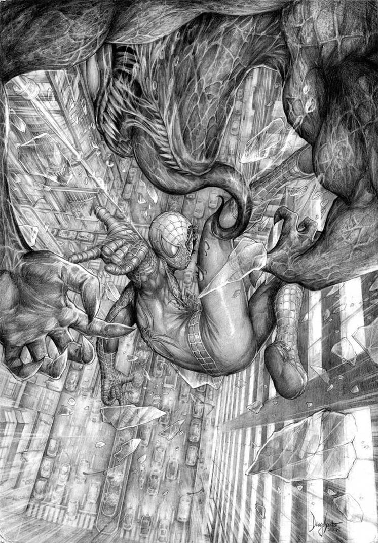 Spider-Man vs Venom by diogosaito
