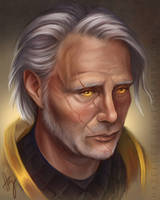 Turalyon - Mads Mikkelsen by Hazelgee