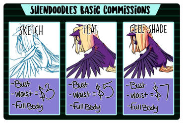 Basic Commissions [OPEN] READ DESCRIPTION by ShenDoodles