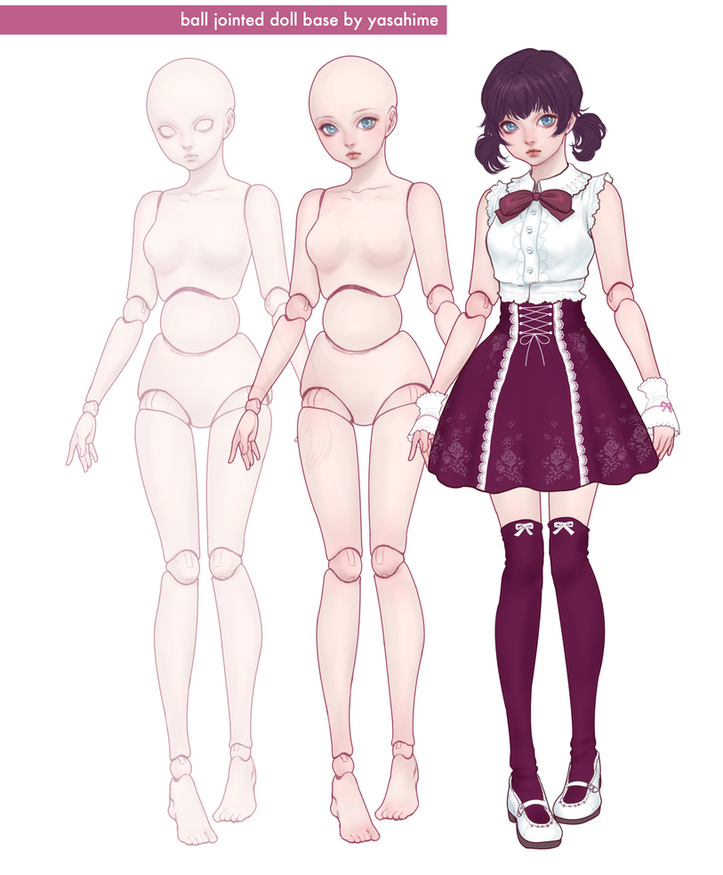 BJD Character Base by JDarnell