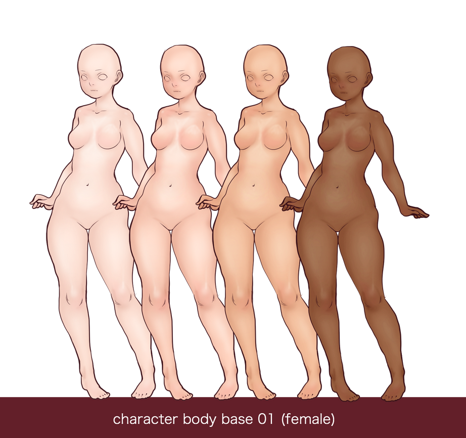 Character bases - female - 01 by JDarnell
