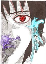 Rasengan VS Shidori by kiradu81