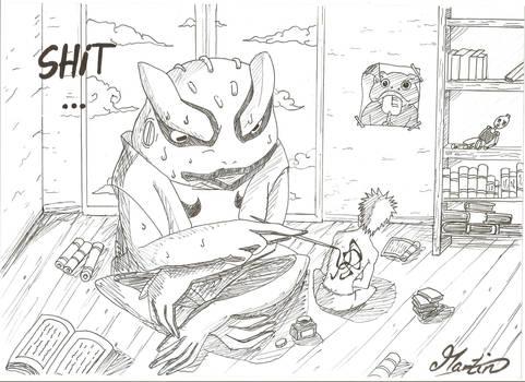 Naruto and Gama Kitchi