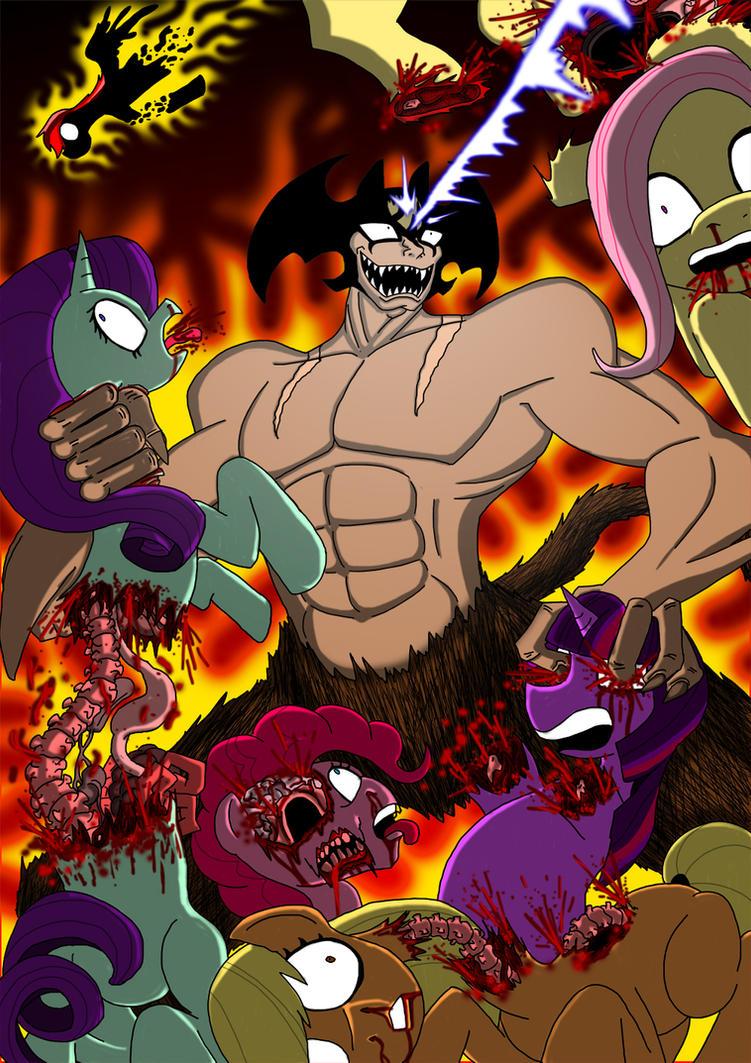 Devilman killing ponies. by BlueStrikerBomber