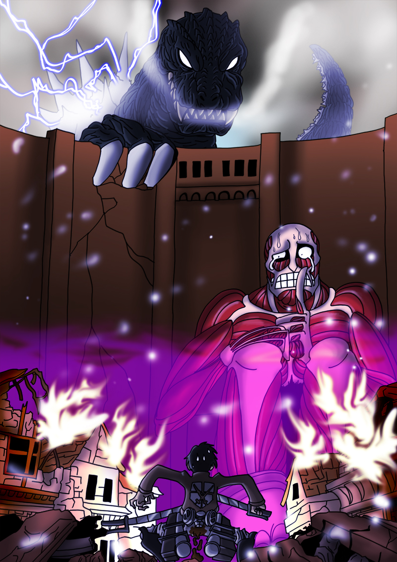 Shingeki no Kaiju by BlueStrikerBomber